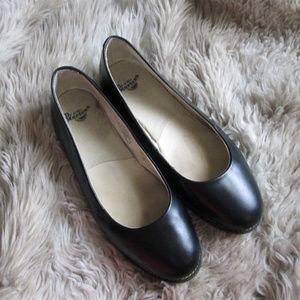 Dr Martens black leather Marie ballet flats
